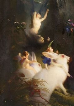 Edwin Landseer: A Midsummer Night's Dream, Titania and Bottom (detail), 1851.