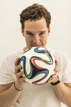 """""""Benedict Cumberbatch was shot at Holystone studios this month for his work on an upcoming documentary about soccer and the world cup. We used only the available light."""" [x]"""