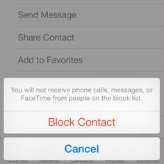 Block Contacts From Sending Messages or Calls in iOS 7