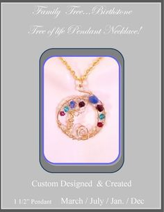 mother daughter jewelry,family birthstone jewelry, mother jewelry  | ArtisticCreationsbyRose - Jewelry on ArtFire