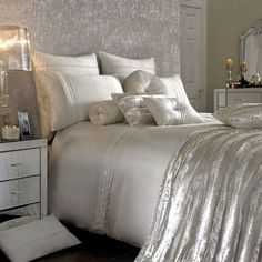 Kylie Minogue - Luxury Bedding Kylie Minogue satin sequins and elegant style Modern Bedroom Design, Contemporary Bedroom, Bed Design, Interior Design Living Room, Modern Contemporary, Kylie Minogue, Dream Bedroom, Home Decor Bedroom, Bedroom Ideas