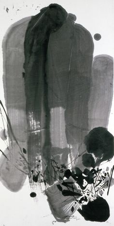 Chu Teh-Chun   MAR 08 No 3, 2001   ink on paper