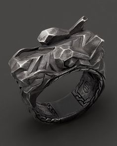 John Hardy Men's Naga Sterling Silver Dragon Head Ring