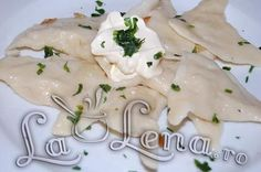 Romanian version of Pierogis Romanian Food, Camembert Cheese, Delish, Soup, Ethnic Recipes, Foods, Drinks, Food Food, Drinking