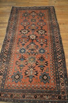 Antique Persian Rug / Vintage Oriental Rug by OakParkAntiques