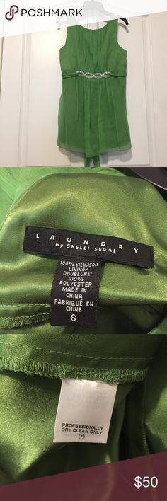 NWT Laundry by Shelli Segal Top NWT Brand new with tags. Beautiful green color. 100% silk. If purchased, item will ship out on a day between Thursday-Saturday. Laundry by Shelli Segal Tops Blouses