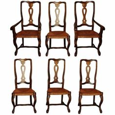 Set of 6 Antique Chairs $225