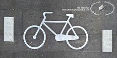 Textures Road markings bike path texture 18764 | Textures - ARCHITECTURE - ROADS - Roads Markings | Sketchuptexture