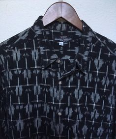 90s Vintage Guess men's shirt Georges Marciano black