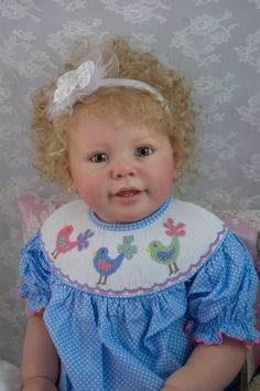 Reborn Toddler Doll KATIE MARIE by Ann Timmerman OOAK Baby Girl Blonde Mohair