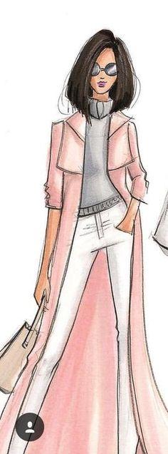 fashionillustr.quenalbertini: Holly Nichols sketch