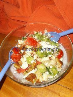 Panzanella με λαχανάκια Βρυξελλών