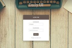 Sign In page using HTML&CSS