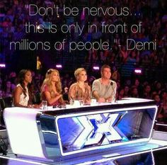 """""""Don't be nervous this is only in front of millions of people """" said Demi Lovato"""