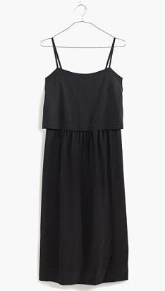 silk overlay cami dress