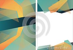 Abstract Triangle Brochure Flyer design Layout template in A4 size. Vector. Watch my portfolio for more illustrations.