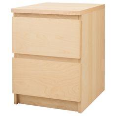 MALM Ladekast 2 lades - berkenfineer - IKEA