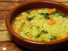Sopa de mill amb verdures i fesols // Sopa de mijo con verduras y judías
