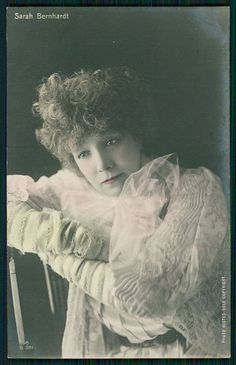 Sarah Bernhardt Theater Edwardian Lady Original 1910s Photo Postcard B21 | eBay