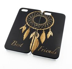 Black Bamboo Wood Case - Best Friends Forever / Dreamcatcher Matching – Milkyway