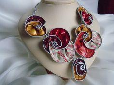 Collar reciclado collar nespresso collar babero por ripaSsi en Etsy