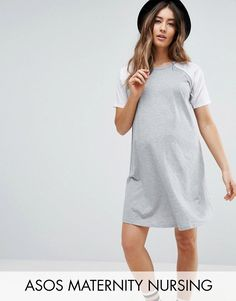 385951d3622 Buy Gray ASOS Maternity - Nursing Jersey dress for woman at best price.  Compare Dresses prices from online stores like Asos - Wossel Global