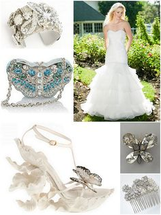 Glamorous butterfly wedding style!