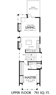 perfect home plan for a narrow lot floor plan floor - Micro Compact Home Floor Plan