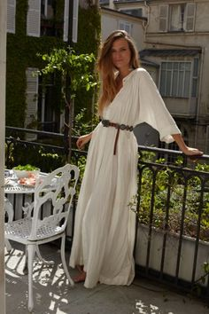 long breezy dress + concho belt