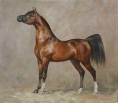 Arabian horse painting by Anna Bazhenova