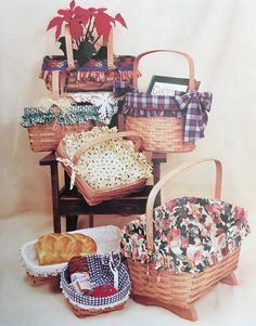 PDF Sewing Basket Liners | Etsy Vogue Sewing Patterns, Mccalls Sewing Patterns, Puff Quilt, Appliance Covers, Basket Liners, Sewing Aprons, Sewing Baskets, Creative Skills, Do It Yourself Projects