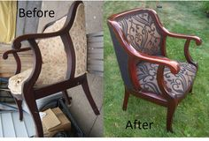 Restorated the finish & new upholstery