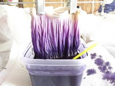 How to dye/ombre chainette fringe. (Rayon works best.)