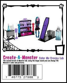 Color Me Creepy lab, use the tools to change the dolls color and skin