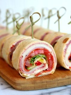 Italian Sandwich Roll-Ups - the perfect sandwich for summer entertaining, picnics, and trips to the pool. You can't go wrong with a tasty sandwich!