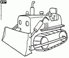 Excavator Coloring Pages Construction Vehicles Coloring