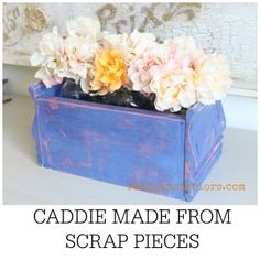How To make a Caddie from Scrap Pieces using CeCe Caldwell's paints.  How to layer and wet distress paints too. Plus step by step video REDOUXINTERIORS.COM FACEBOOK: REDOUX #Cececaldwellspaints #redouxinteriors #howtobuildacaddie #wetdistress