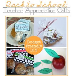 Back to School: Teacher Appreciation Gifts.  It's always good to butter up the teacher at the beginning of the year... says the former teacher.