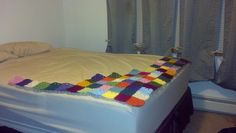 Current WIP; Mom's patchwork blanket