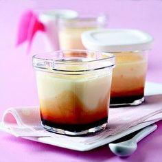 Flans au caramel à la yaourtière