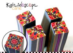 * NEW * polymer clay kaleidoscope cane by Ronit Golan