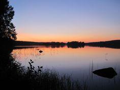 Lake Tuomio in Jyvaskyla, Finland