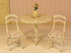 Dollhouse Miniature One Inch Scale Shabby Chic by MostlyMinis, $16.50