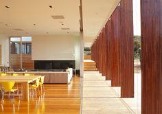 wood interior modern great room