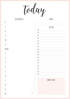 love the double column layout, but modified so I have a brain dump and a notes section (split) on the to-do side. {Today Planner from Free Printable Irma Daily Planners by Eliza Ellis - available in 6 colors.