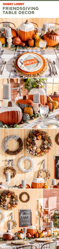 Call your friends. Add the finishing touches to your decor. It's time for Friendsgiving. Thanksgiving Decorations, Table Decorations, Happy Friends, Creative Skills, Family Traditions, Commercial Photography, Decor Crafts, Home Decor, Floral Wedding