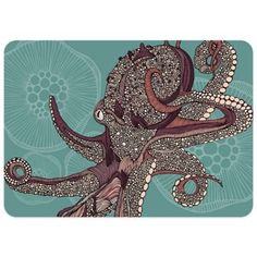 Buy Bungalow Flooring 23-Inch x 36-Inch Octopus Decorative Kitchen Mat from Bed Bath & Beyond