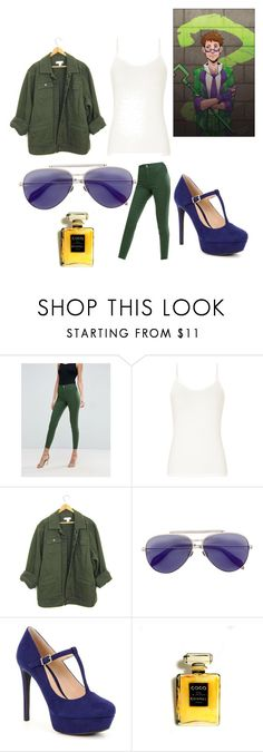 """""""Riddler"""" by trinadee-rogers ❤ liked on Polyvore featuring ASOS, Alexander McQueen, Gianni Bini and Chanel"""