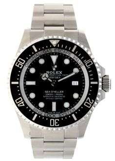C$16,951.00 44mm oystersteel case with helium escape valve, screw-down back, screw-down crown, unidirectional rotating bezel with scratch-resistant ceramic Cerachrom insert and platinum coated 60-minute graduations and numerals, domed 5.5mm thick scratch-resistant crystal, black dial, Rolex calibre 3235 perpetual self-winding movement, approximately 70 hours of power reserve, Oyster bracelet with flat three-piece links, folding Oysterlock safety buckle with Rolex glidelock ... Sea Dweller, Rolex Gmt Master, Rolex Watches, Crystals, Accessories, Crystal, Crystals Minerals, Ornament