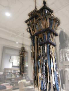 "Anthropologie :: Jade Display, Denim ""Chandeliers"" by natalie barsumian, via Behance.  Gorgeous but not exactly sure where I'd use it.  I'll keep thinking."